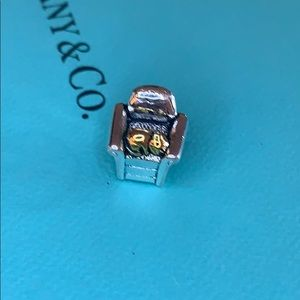 925 sterling silver charm cat in a chair